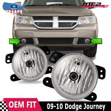 Dodge Journey 09-10 OE Factory Bumper Replacement Fit Fog Lights Clear Lens