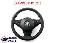 BMW 5 6 Series E60 E61 E63 E64 NEW Leather M-Sport Steering Wheel ///M-threads