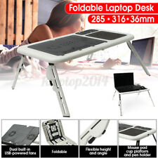 Laptop Lap Desk E-Table Bed Foldable Table With USB Cooling Fans Stand TV