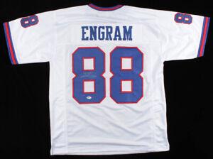 Evan Engram Signed Giants White Jersey (Beckett COA) New York 1st Rd Pick 2017