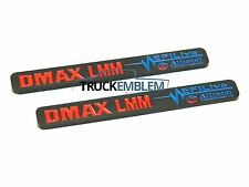 "2 New (PAIR) BLACK & Red Duramax Diesel ""DMAX LMM"" Allison EFI LIVE BADGES SET"