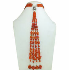 Necklace Natural Carnelian Gemstone Jewelry 925 Solid Sterling Silver Jewelry