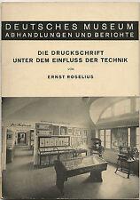 alte Zeitschrift DEUTSCHES Museum Die Druckschrift  Heft 3 von 1939 ( 6091