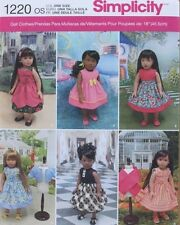 "18"" GIRL DOLL CLOTHES/DRESSES Simplicity Sewing Pattern 1220/436  American Made"