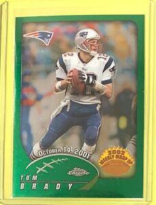 2002 Topps Chrome #150 TOM BRADY WEEKLY WRAP UP Patriots - TH84
