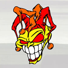 "Jester Evil Joker LARGE Vinyl Decal Sticker 10""x13.5"" Court Trickster Wild Grin!"