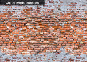 1:12 Scale Brick Wall - Vinyl Decal sheets. Action Figure. Design 8