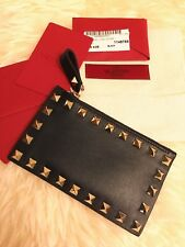 [AUTHENTIC] Valentino Rockstud Leather Coin Purse/Card Case Mini Wallet - Black