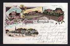 108538 AK Herrnstadt Schlesien 1901 Litho Bahnhof Molkerei Kadlewe St. Josef Sti