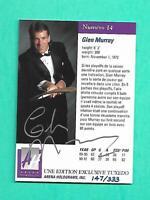 (1) GLEN MURRAY 1991-92 ARENA FRENCH LIMITED SIGN 147/333 NRMT-MT CARD (V0076)