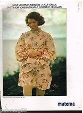 Publicité Advertising 1973 Les vetements de grossesse Materna