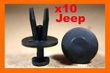10 Chrysler Jeep front rear bumper fender fascia scuff strip fasteners clips