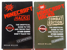 Minecraft Hacks (Combat Edition) TIPS and TRICKS GUIDE LOT of 2 HARDCOVER BOOKS