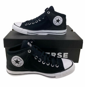 NEW Converse Chuck Taylor All Star High Street Hi Shoes Sneakers Black Mens Sz 8