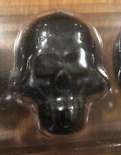 NEW in Box Pottery Barn Halloween 5 Mini Black Skulls Skeleton Candles Votives