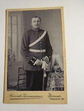 Potsdam - 1908/09 - stehender Soldat in Uniform - Parade-Helm Säbel - FAR / CDV