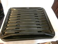 Vintage Oven Broiler Drip Pan & Grill Rack - Black Speckled Enamel