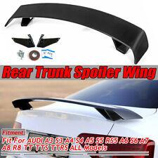 For Audi A3 S3 A4 A5 S5 A6 TT Rear Trunk Spoiler Wing Carbon Fiber Look R
