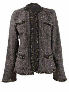 Weekend Max Mara Women's Tweed Frayed-Trim Jacket