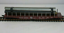 Athearn Milwaukee Road Flat Car With Hand Made Pipe Load #MILW 65640 HO Scale