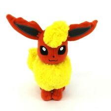 "Tomy Pokemon Eevee Flareon Eeveelution plush 8"" Stuffed Animal Plush Gen 1"
