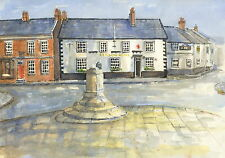 Epworth Market Square, Hand Signed, Titled and Mounted Print with COA