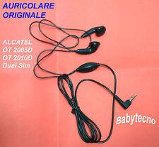 AURICOLARE ORIGINALE ALCATEL 665 997D OT 2010D Dual Sim 2005D OT-1030 OT-1030D