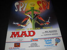 MAD MAGAZINE 1st Computer Game SPY VS SPY 1984 Promo Poster Ad mint condition