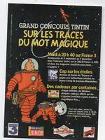 Carte postale Tintin. Sur les traces du mot magique. Tirage limité. réf. F/09