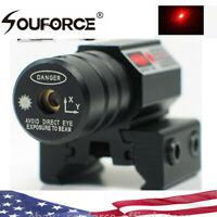 US Mini Red Dot Laser Sight 11/20mm Picatinny/Weaver Rail for Rifle Pistol Gun