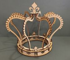 Y139 PRINCESS CROWN Candy Cart Cup Cake Craft Stand Sweet MDF Wedding Donut Wall