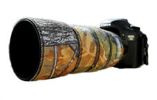 Canon 70 300mm L IS Neoprene lens protection camouflage cover: Oak camo
