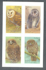 Australia-Owls self-adhesive mnh set 2016-Raptors-Birds of prey
