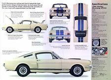 1966 Ford Mustang Shelby GT350 Fastback 289 ci 306 hp IMP info/Specs/photo 11x8