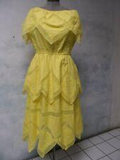 Vtg 70s PinTuck Gypsy Lace boho Dress mexican hippie Dress sz Xl