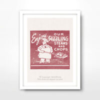 MEAT LOVER KITCHEN ART PRINT Poster Illustration Decor Wall Picture A4 A3 A2