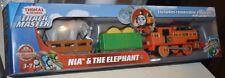 Thomas & Friends NIA & THE ELEPHANT Trackmaster Battery Operated Motorized NEW
