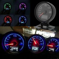 "62mm/2.5"" 7Light Color LCD Display Car Turbo Boost Vacuum Gauge w/ Voltage Meter"