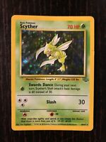 Scyther 10/64 Holo Rare Jungle Pokemon Card