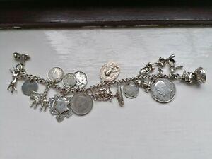 Vintage 925 silver charm bracelet