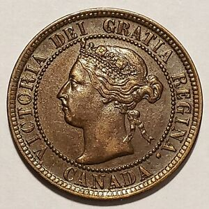 Rare 1894 Canada Large Cent KM# 7 About Uncirculated No Reserve!