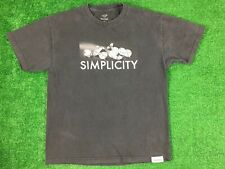 Diamond Supply Adult Short Sleeve Graphic T Shirt Sz L Simplicity Crewneck Black