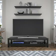Tv Stand Entertainment Console Center Media Table Black Oak Fits Up To 65""