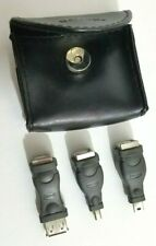 Belkin USB type B port adapters Set 3 in Black Leather Case Good Condition Used