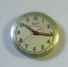Vintage Military Felca Watch 17j Movement RUNNING Nice Dial FREE USA SHIPPING