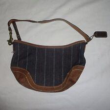 COACH Blue Jean Suede Leather small Shoulder Bag Purse