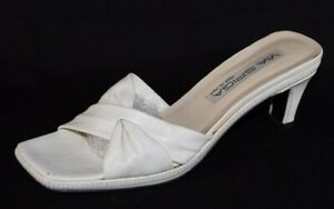 Via Spiga Made In Italy women's white leather sandals slide size 7.5M