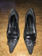 CASADEI BLACK CLASSIC HEEL PUMPS 6 B MADE IN ITALY VTG