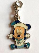 Disney Mickey Mouse Charm Clip Baby Bracelet Zipper Pull Purse Tag Disneyana
