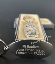 12-Recuerdos De Mi Bautizo Bautismo Baptism Party Favors Personalize Keychains